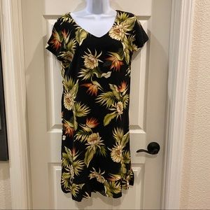 1980s Vintage Hawaiian Tiki Party Dress